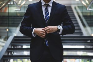 Man in suit dress code