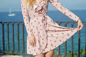 Girl in short skirt dress code